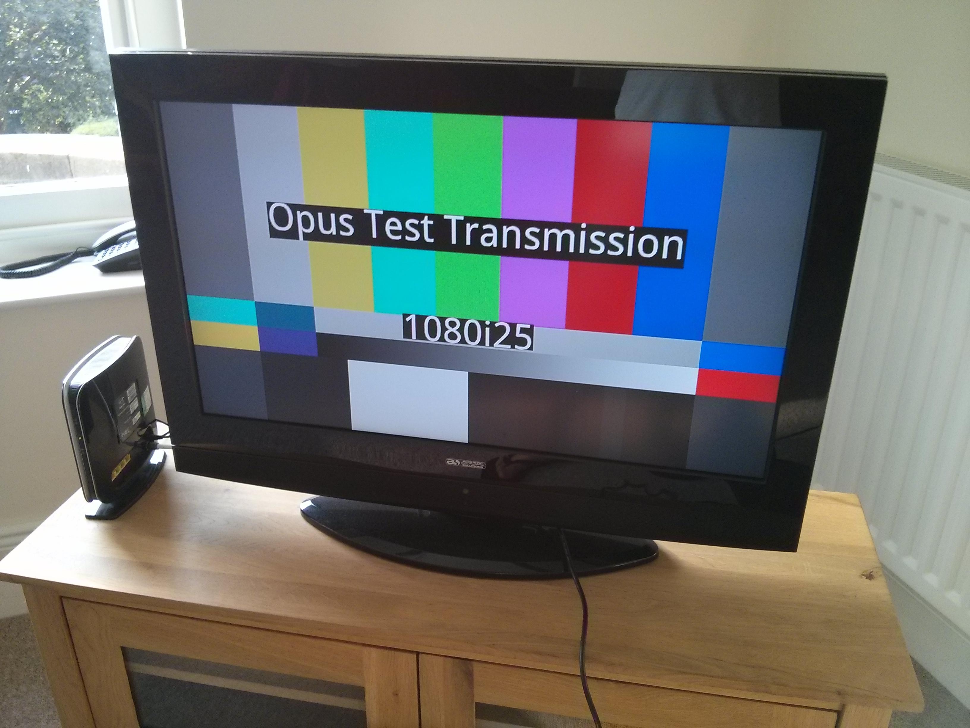 OBE Opus Test Transmission