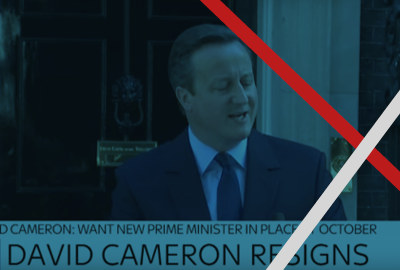 OBE news David Cameron resigns banner